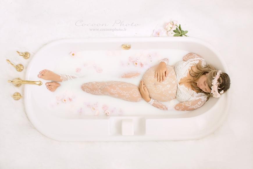 Populaire Séance photo bain de lait pour femme enceinte – Photographe  IK56